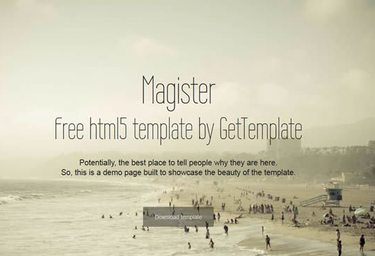 Free Bootstrap themes - Magister