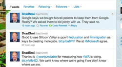 Microsoft's Brad Smith has hit back at claims Microsoft bought Novell's patents to keep them from Google