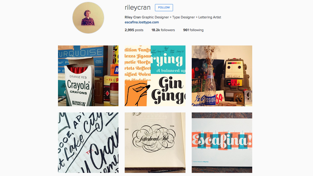 Graphic designers to follow on Instagram: Riley Cran