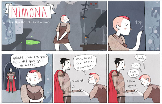 imaginative web comics: Nimona