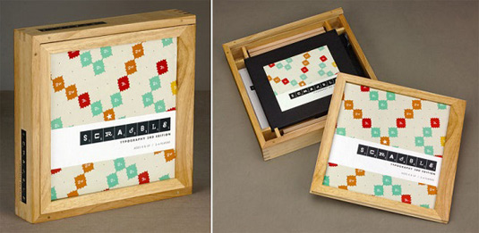 Typography Scrabble box