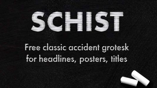 Free font: Schist