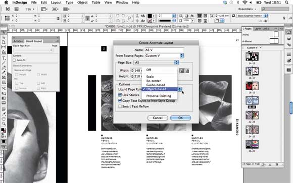 Adobe InDesign CS6: Liquid Page Rules