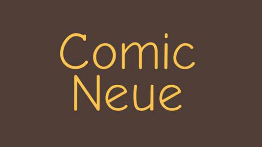 Free font: Comic Neue