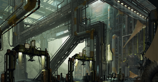 How to paint a complex metal structure