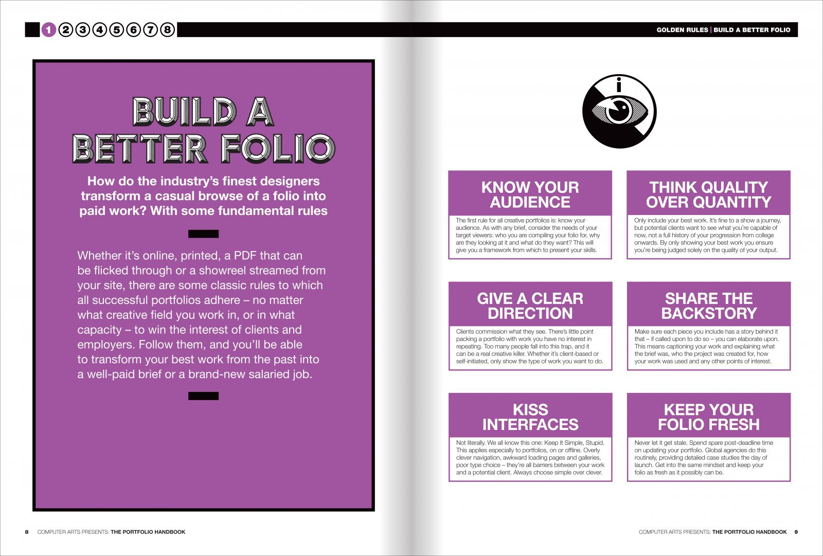 Spread from chapter one: build a better portfolio
