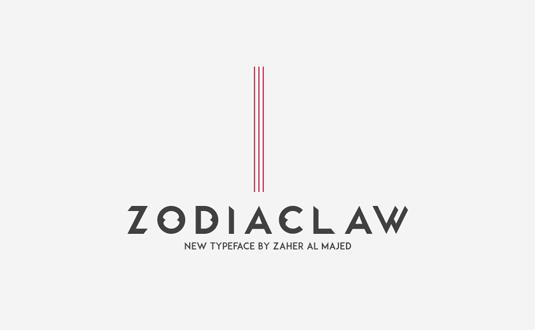 Free font: Zodiaclaw