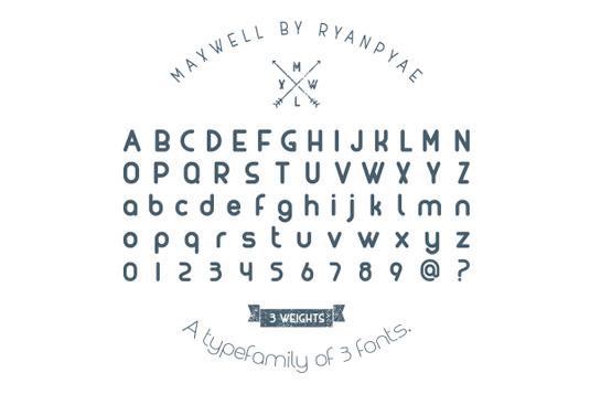 Free font: Maxwell