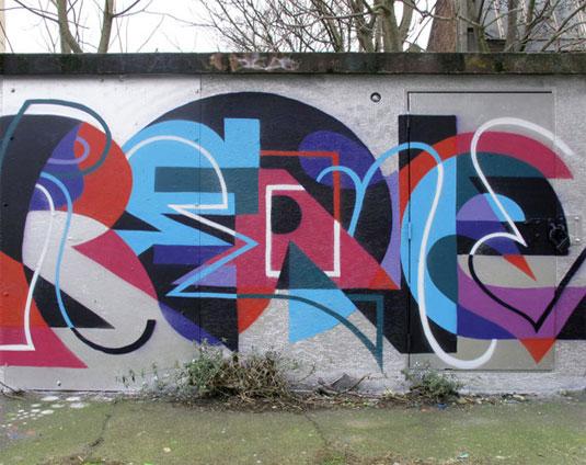 geometric street art
