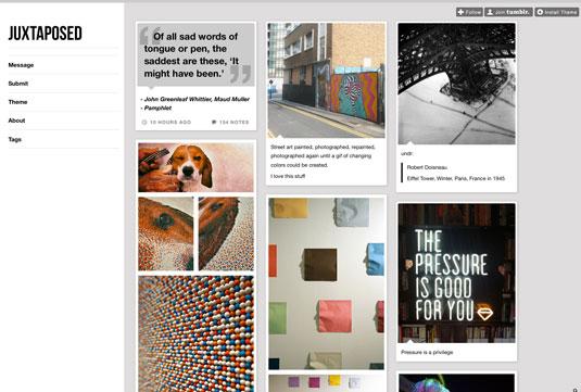 tumblr blogs for designers: Juxtaposed