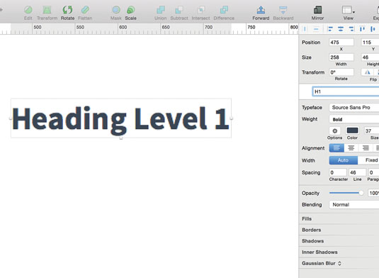 Get started with headings