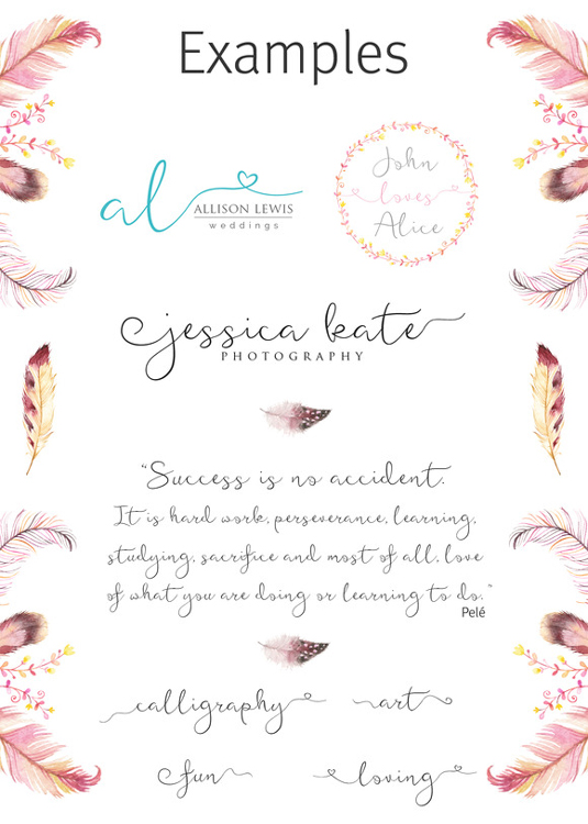 Featherly font