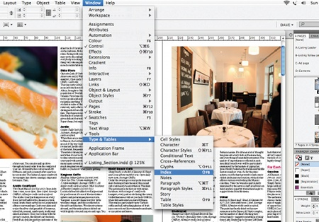 Create an index in InDesign: step 1