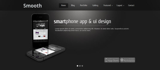 Free Drupal theme: Smooth