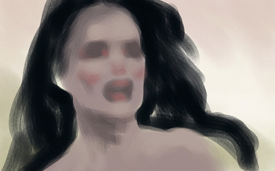 Painting a pained expression