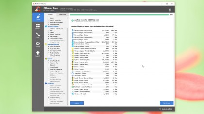 CCleaner scan results