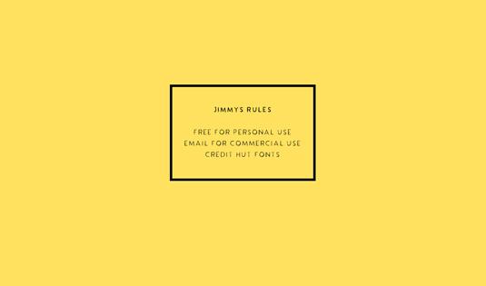 Free font: Jimmy