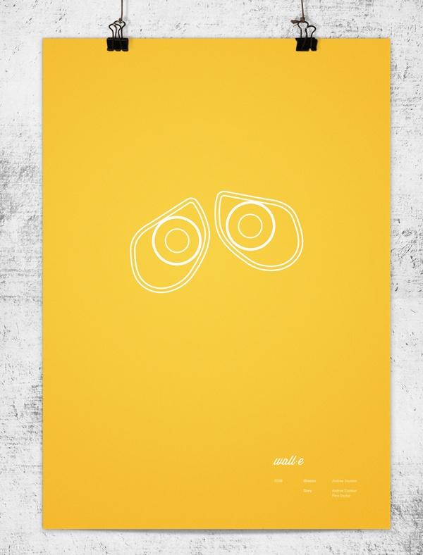 Wonchan Lee - Pixar Minimalist Posters