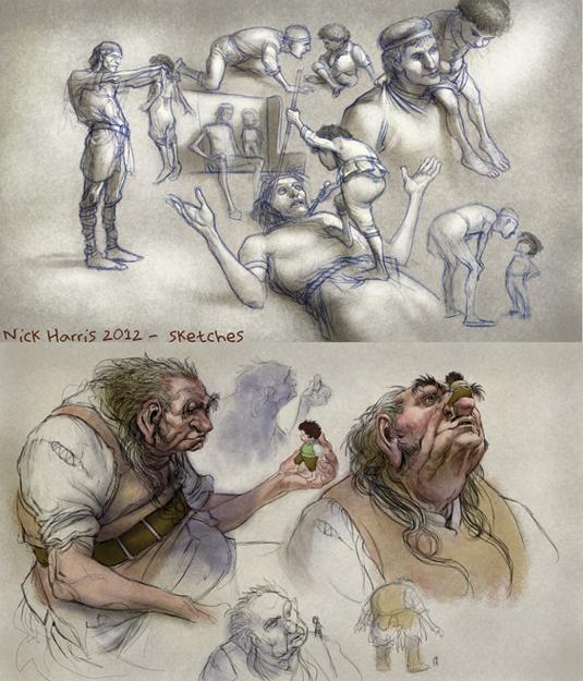 fantasy convo sketches