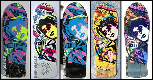 Skateboard designs: Gonz