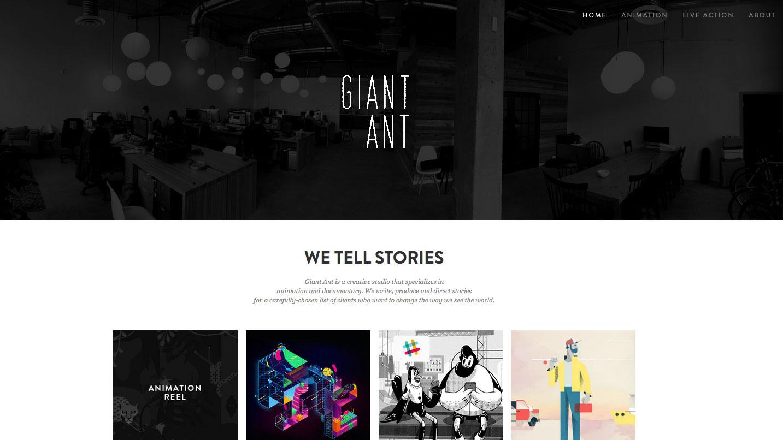 Inspiring design portfolios: Giant Ant