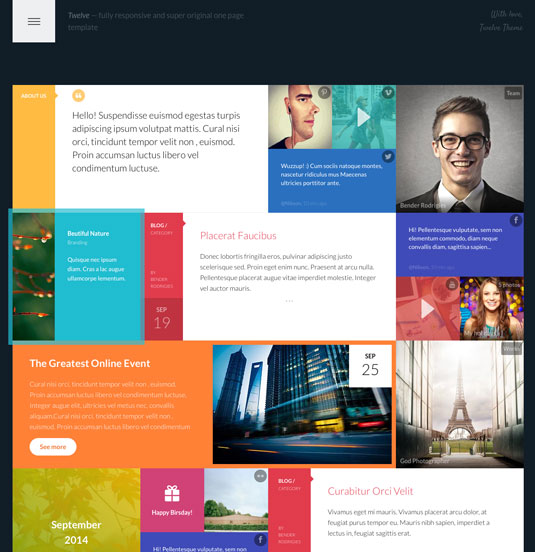 Website templates - Twelve
