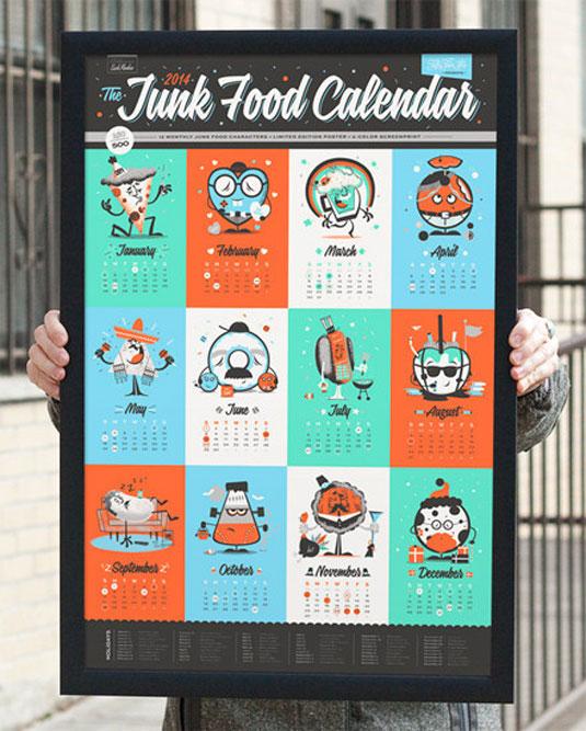junk food calendar