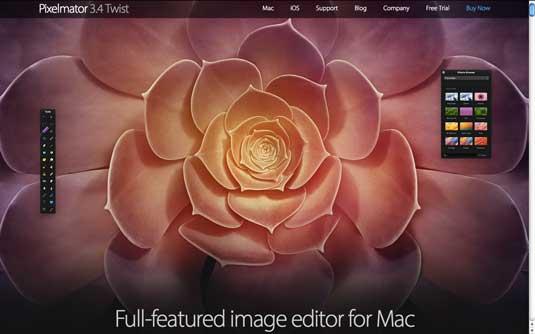 Pixelmator homepage