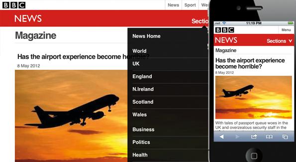 Best responsive websites: BBC News