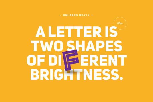 Free font: Uni Sans