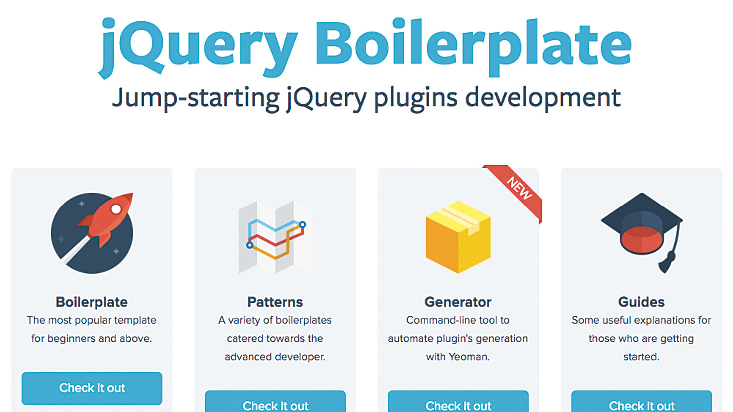 50 free web tools - jQuery Boilerplate