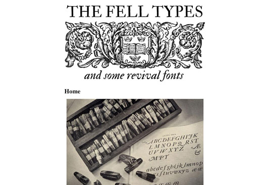 Download fonts: Fell Types