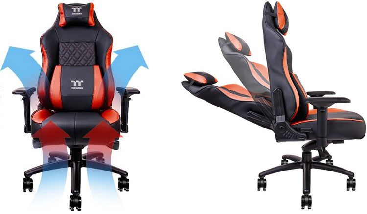 Thermaltake S New Gaming Chair Has Air Cooling For Your