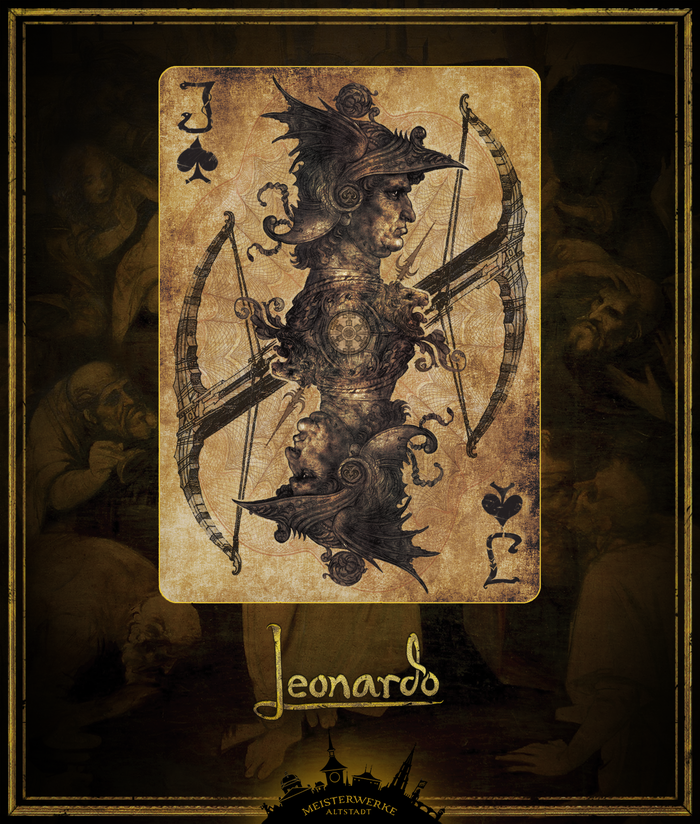 Leonardo da Vinci playing cards