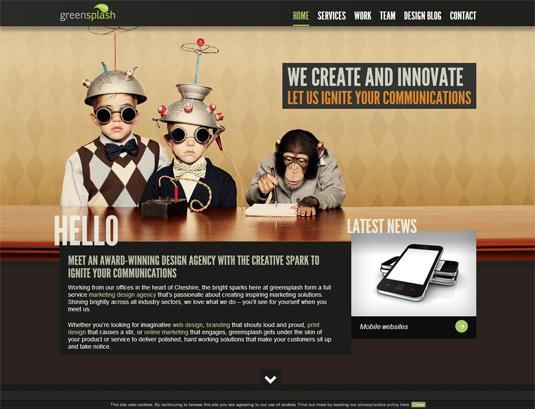 parallax scrolling tips: Greensplash homepage