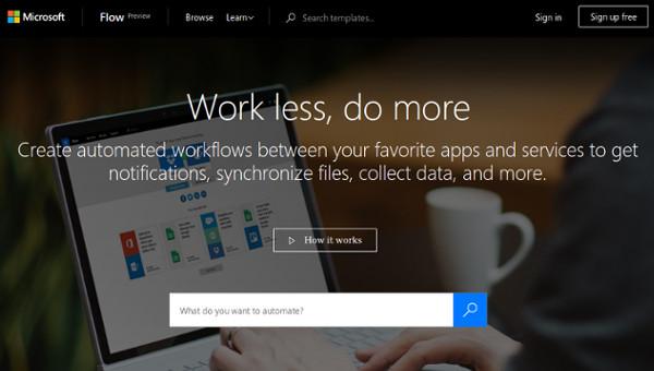 web design tools: Microsoft flow