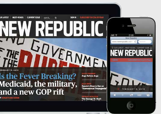 Responsive news websites: New Republic
