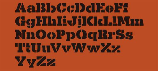 free stencil fonts: Kaine