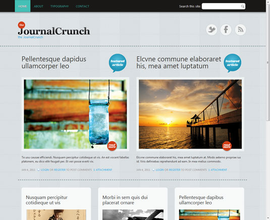 Free Drupal theme: Journal Crunch