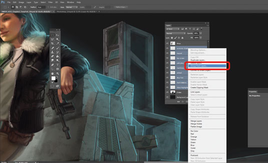 Photoshop layers: grouping