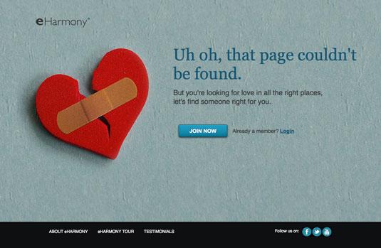 404 pages: eHarmony