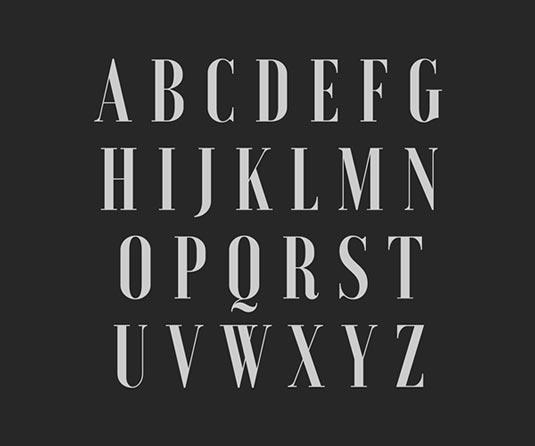 Free fonts: Voga