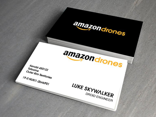 What business cards would look like in the Star Wars