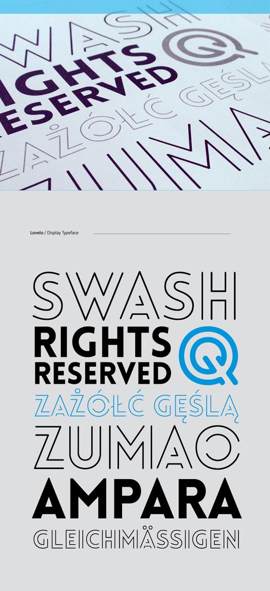 Free fonts: Lovelo