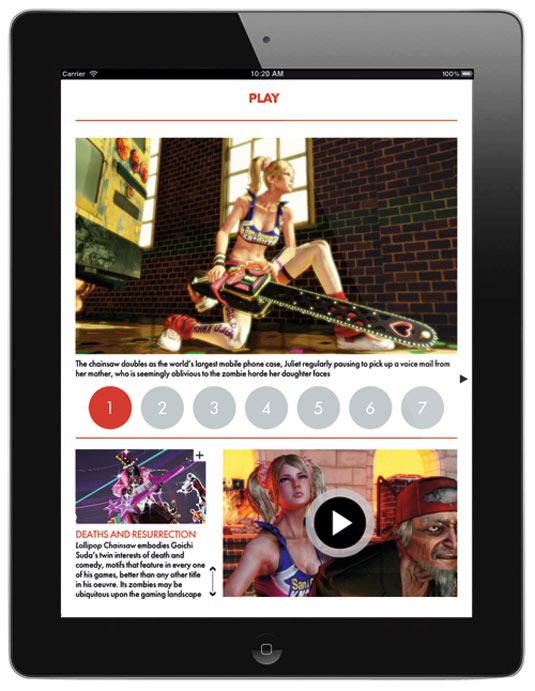 Edge iPad app example image