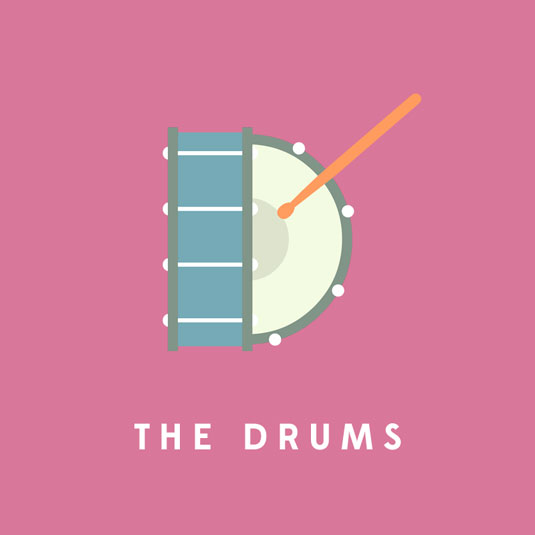 the drums typography