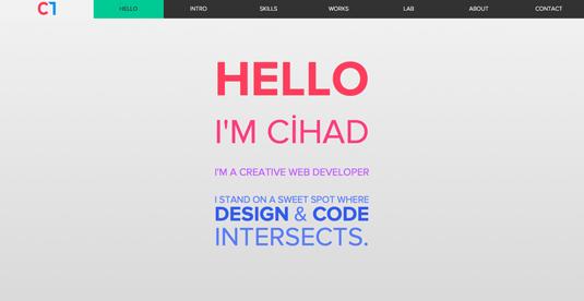 Web design portfolios - Cihad Turhan