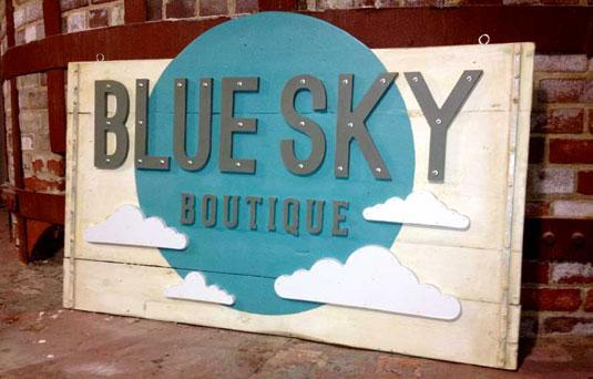 sign: blue sky