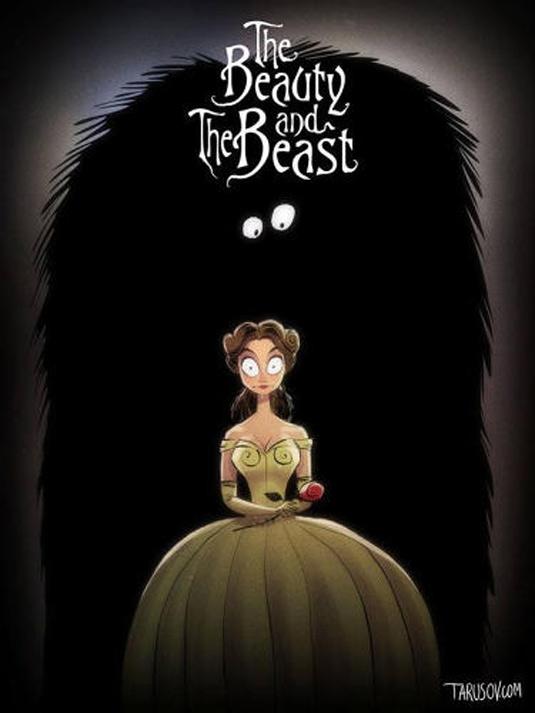 Disney films Tim Burton style: Beauty and The Beast