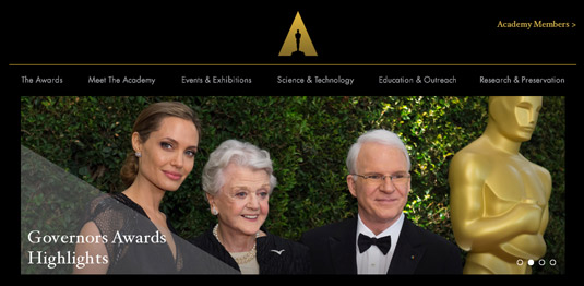 New Oscars logo: website